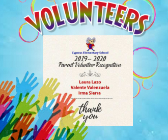 2019-20 Parent Volunteer Recognition