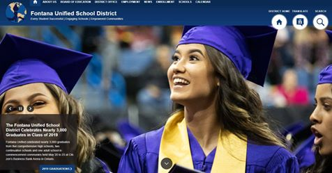 Fontana Unified School District website preview image