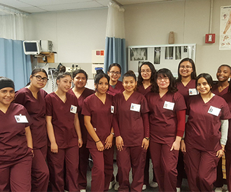 Students from the Nursing Program