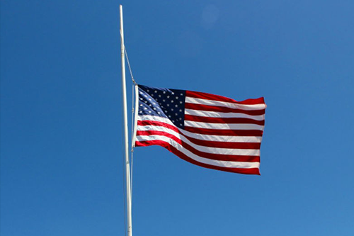 USA Flag Flown at Half Staff