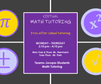 Math Tutoring (click here for more information)