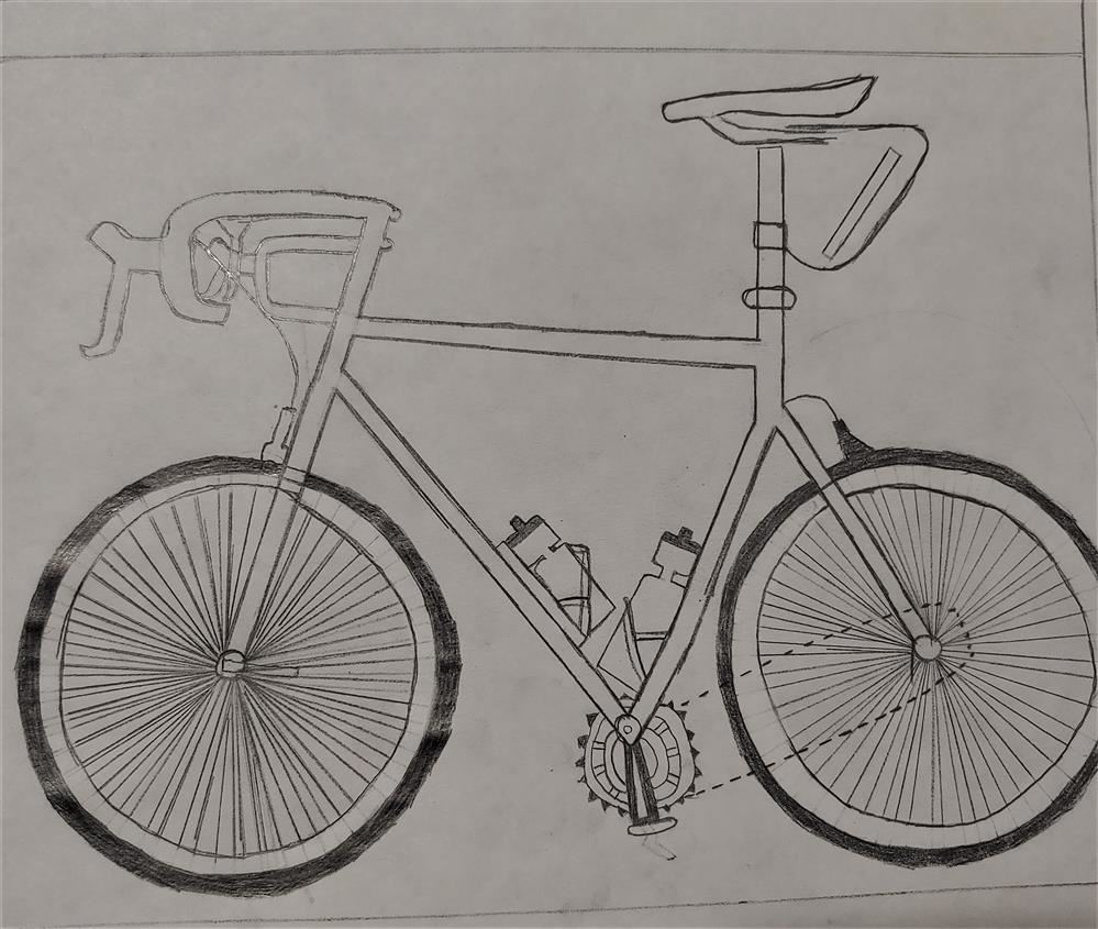 The assignment was related to Line: An Element of Art. Students were to draw a bicycle, from observa
