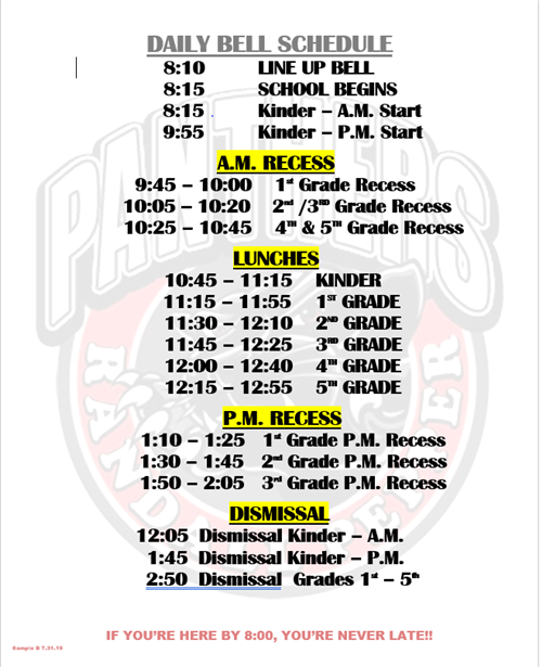 west covina high school bell schedule